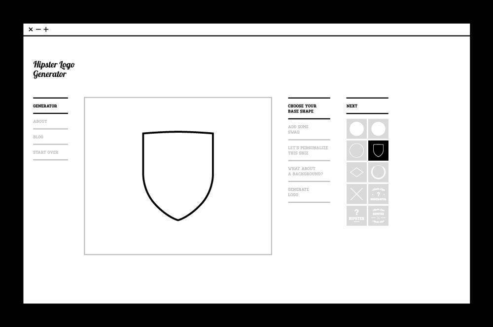 6 herramientas gratuitas para crear y dise ar p ginas web for Hipster logo generator